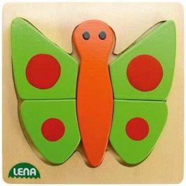 Lena Dřevěné puzzle - motýl