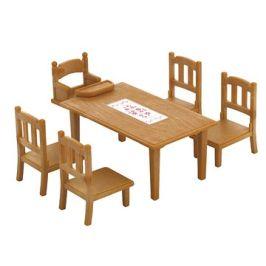Sylvanian Families Nábytek – jídelní stůl se židlemi