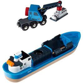 Brio World 33534 Nákladní loď a jeřáb