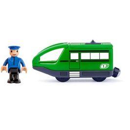 Woody Moderní elektrická mašinka - zelená