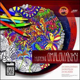 Hudební omalovánky + 24 pastelek Koh-i-noor