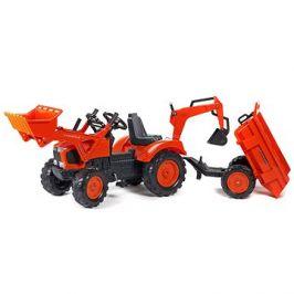 Traktor s přední a zadní lžící