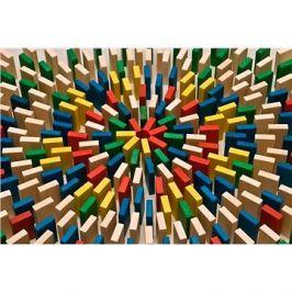 EkoToys Domino barevné 430 ks