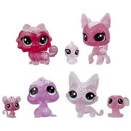 Littlest Pet Shop Zvířátka z ledového království 7ks - růžová