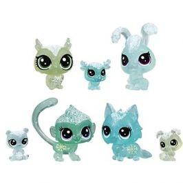 Littlest Pet Shop Zvířátka z ledového království 7ks - zelená