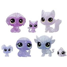 Littlest Pet Shop Zvířátka z ledového království 7ks - fialová