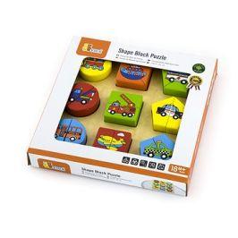 Dřevěné puzzle vkládačka - doprava