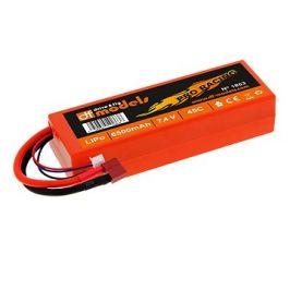 DF Models LiPo Aku 7,4V/6500mAh 45C Pro Racing T-Plug