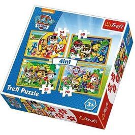Puzzle 4v1 Tlapková patrola