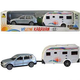 MaDe Auto s karavanem, 26cm, pull-back