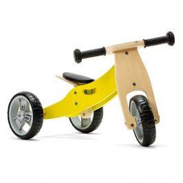 Nicko - Dřevěné odrážedlo 2v1 mini žluté