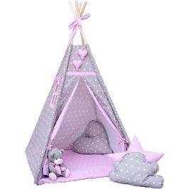 BabyTýpka teepee Double stars pink