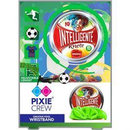 Pixie Crew zelený silikonový náramek s fotbalovou tématikou + inteligentní plastelína jako dárek