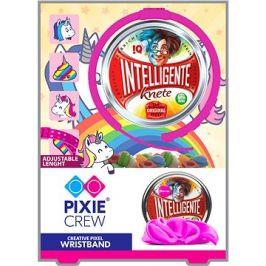 Pixie Crew růžový náramek s motivem jednorožce + inteligentní plastelína jako dárek
