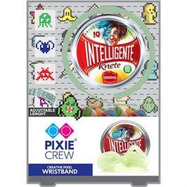 Pixie Crew silikonový náramek svítící ve tmě s pixelart příšerkami + inteligentní plastelína jako dá