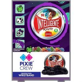 Pixie Crew fialový silikonový náramek s hello kitty pixely + inteligentní plastelína jako dárek