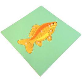 Puzzle s kostrou - ryba