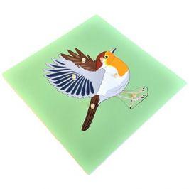 Puzzle s kostrou - pták
