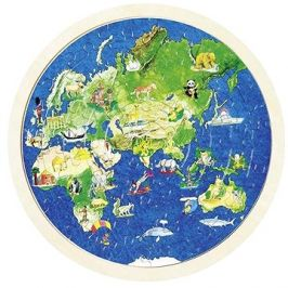 Goki oboustranné puzzle – zeměkoule