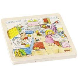 Goki můj den - vrstvené puzzle ze dřeva