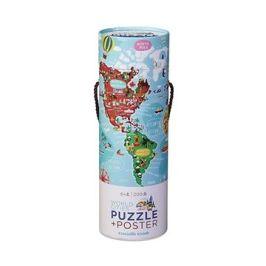 Puzzle a plakát - Světová města (200 ks)