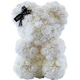 Rose Bear Bílý medvídek z růží 25 cm