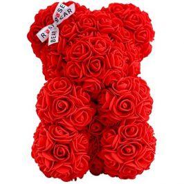 Rose Bear Červený medvídek z růží 25 cm