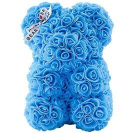 Rose Bear Světle modrý medvídek z růží 25 cm
