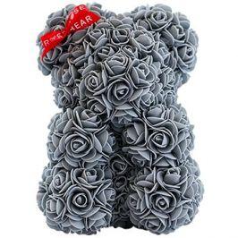 Rose Bear Šedý medvídek z růží 25 cm