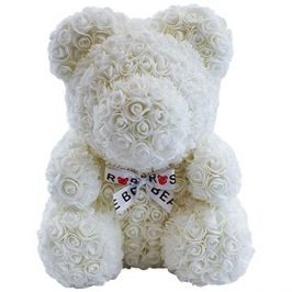 Rose Bear Bílý medvídek z růží 38 cm