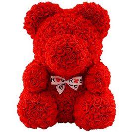 Rose Bear Červený medvídek z růží 38 cm