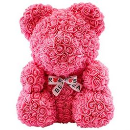 Rose Bear Růžový medvídek z růží 38 cm
