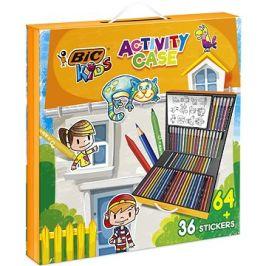 Dětský kufřík, mix produktů 64ks + 36ks nálepek