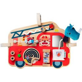 Lilliputiens - dřevěný panel s aktivitami  - hasičský vůz