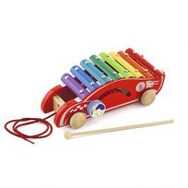 Dřevěný tahací xylofon - auto
