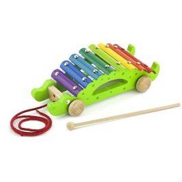 Dřevěný tahací xylofon - krokodýl