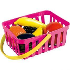 Androni Nákupní košík s ovocem - 6 kusů, růžový