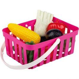 Androni Nákupní košík se zeleninou - 10 kusů, růžový