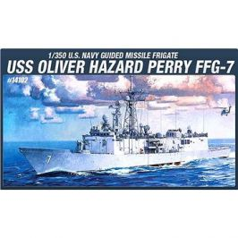 Model Kit loď 14102 - USS Olivier hazard perry FFG-7