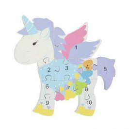 Puzzle s čísly - Jednorožec