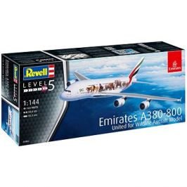 Plastic ModelKit letadlo 03882 - Airbus A380-800 Emirates