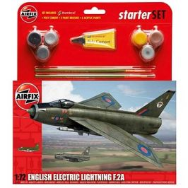 Starter Set letadlo A55305 - English Electric Lightning F2A