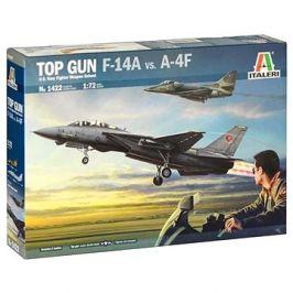 Model Kit letadla 1422 - Top Gun F-14A Vs A-4F