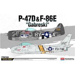 Model Kit letadlo 12530 - P-47D & F-86E