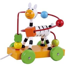 Dřevěná jezdící interaktivní hračka zebra