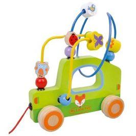 Dřevěný tahací labyrint autíčko sun baby