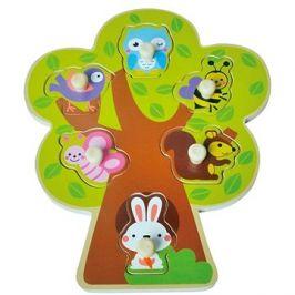 Dřevěné puzzle sun baby