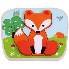 Dřevěné puzzle liška sun baby