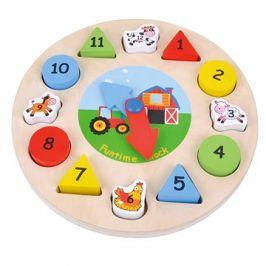 Dřevěné hodiny puzzle