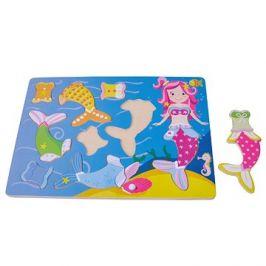 Dřevěné puzzle mořská panna